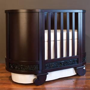 chelsea darling crib cradle espresso