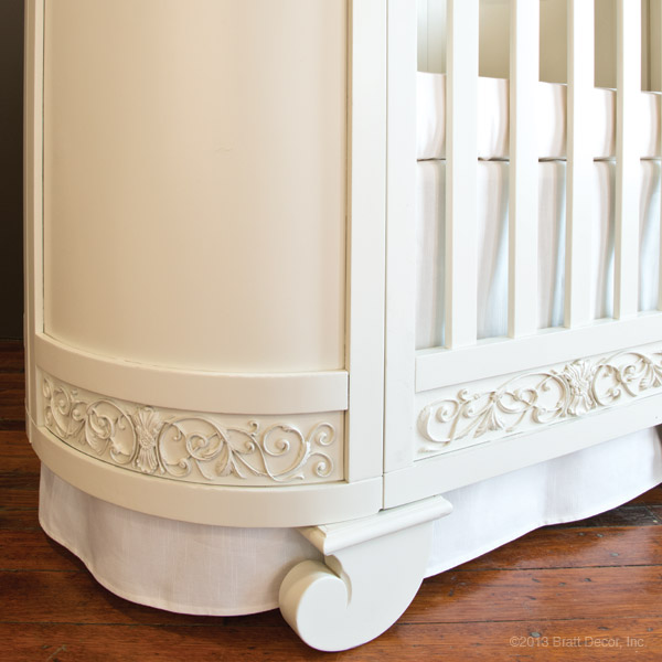 chelsea darling crib cradle white