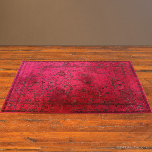 renaissance rug in cranberry