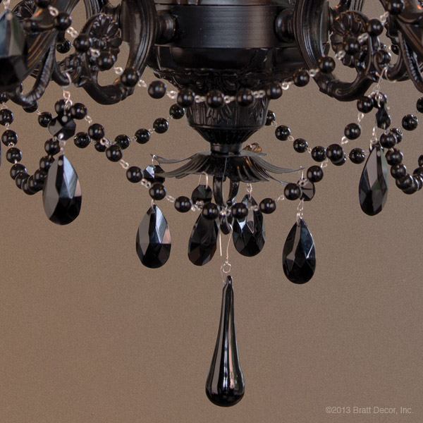 chantilly black 5 arm chandelier