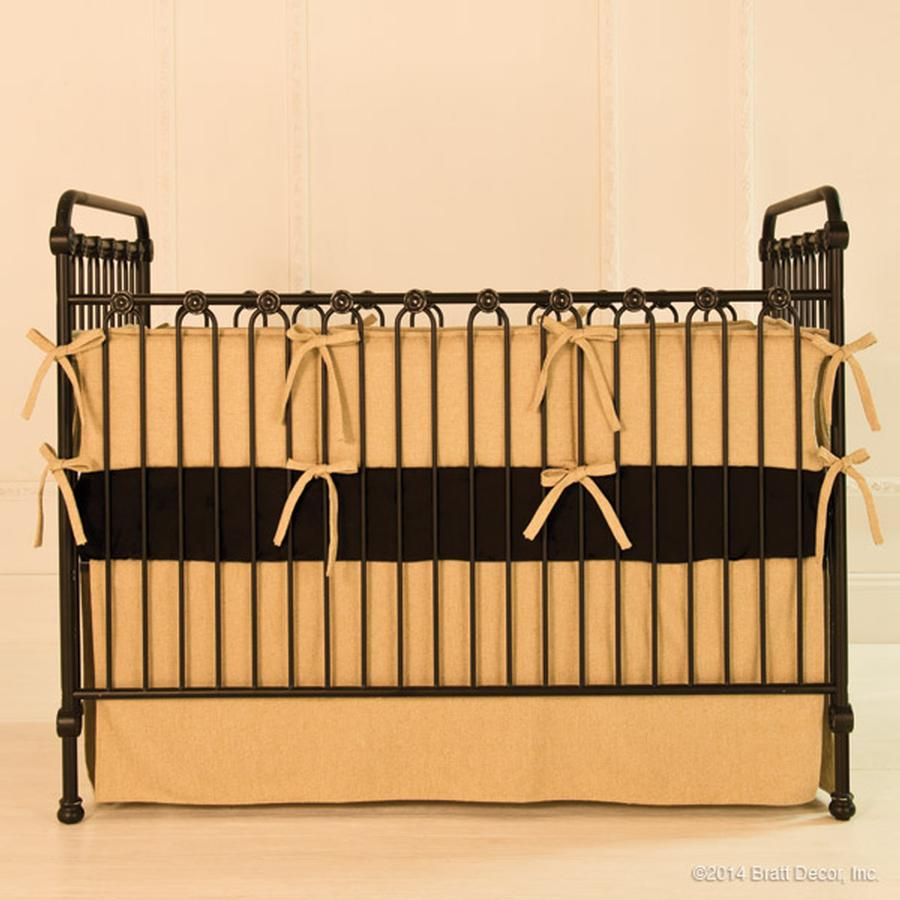 joy baby crib distressed black