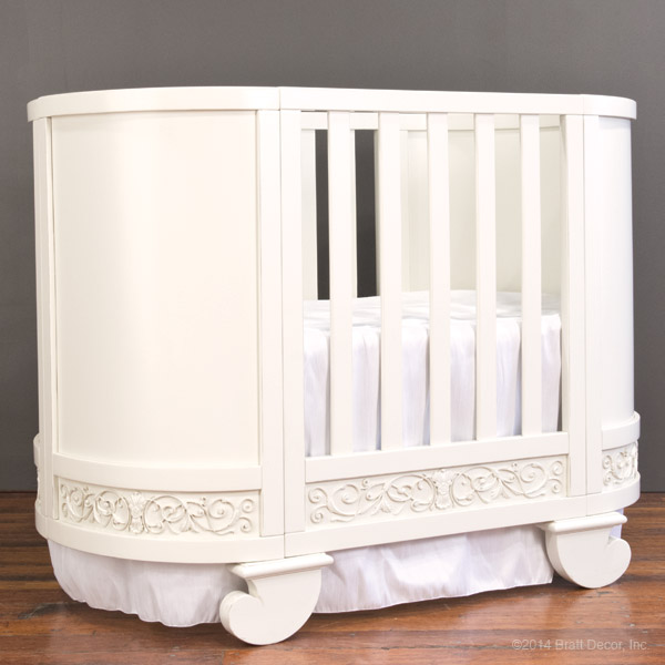 chelsea darling crib skirt in soft white
