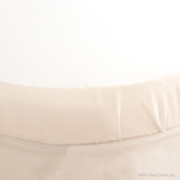 classic oval crib sheet soft white