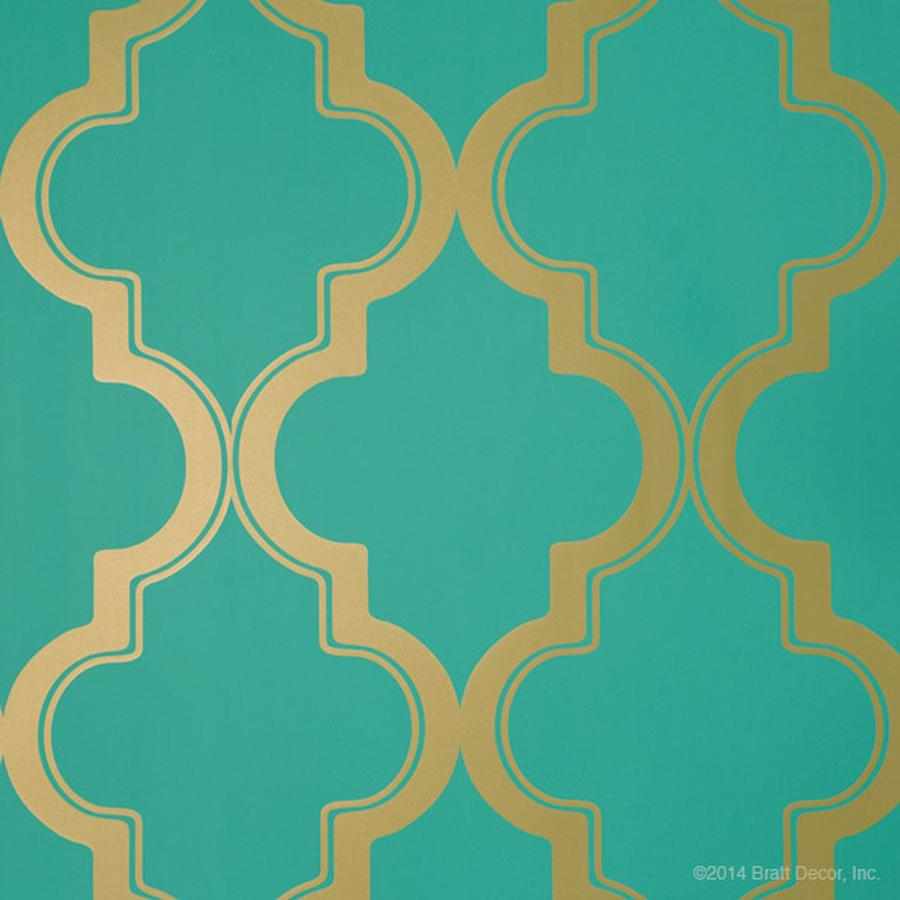 morrocan wallpaper in jade