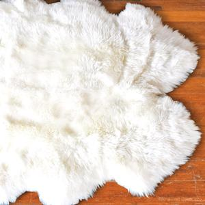 sheep skin fur rugs white