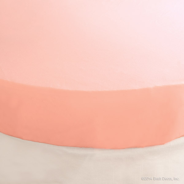 classic oval crib sheet light pink
