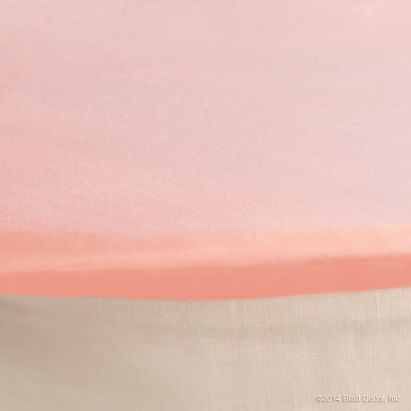 classic oval cradle sheet light pink