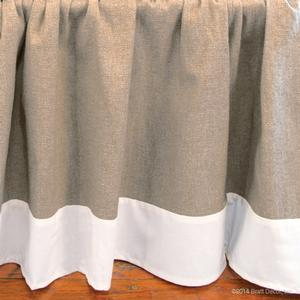 willow oval crib skirt