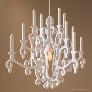 whimsy chandelier in white
