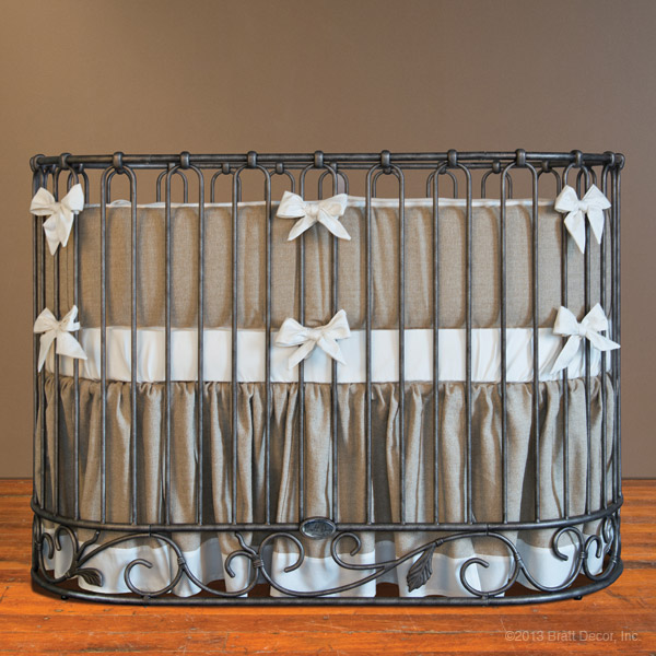 willow 3 piece oval crib set