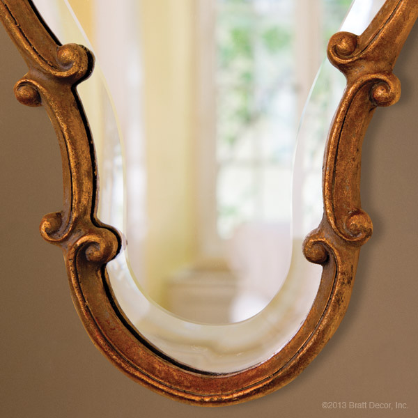 gold antiqued trimmed mirrors elegant