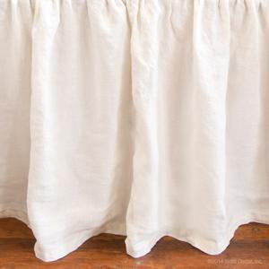 gretta linen crib skirt