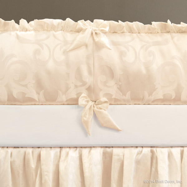ivory damask bumpers pad pads