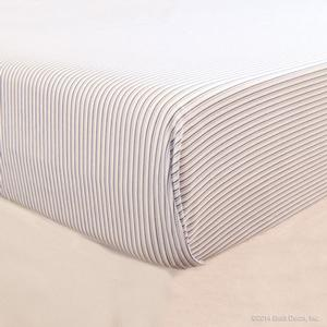 sheets cotton white stripes fitted