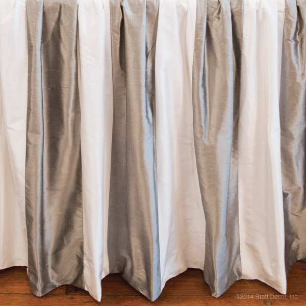 silver pewter white silk stripes