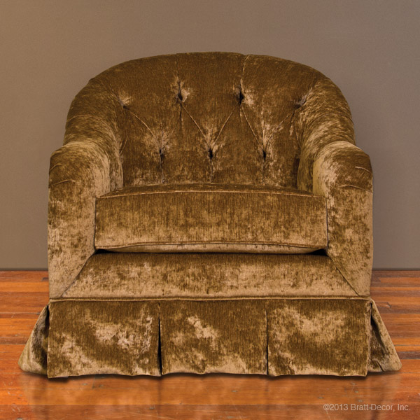 hepburn glider and ottoman in bronze