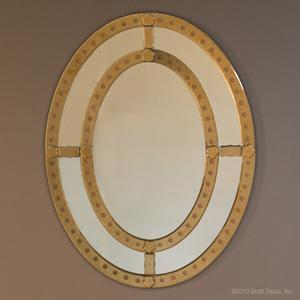 bernhardt oval mirror