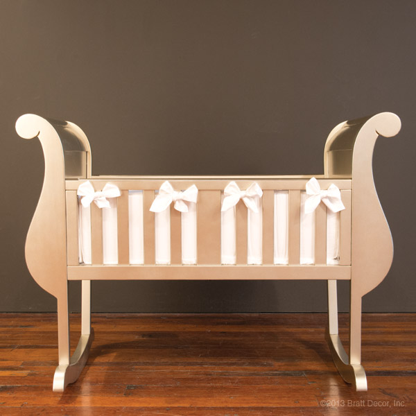 hand-carved wood wooden bassinet cradles
