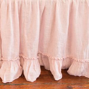 petal crib skirt ruffle