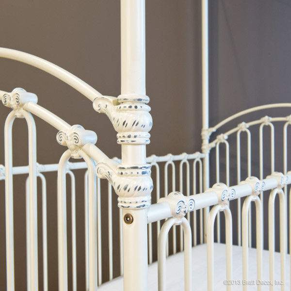 venetian crib antique white