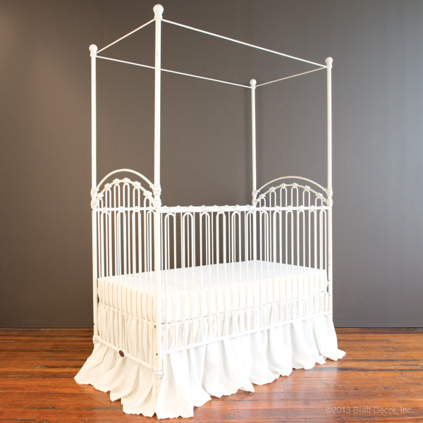 venetian crib distressed white