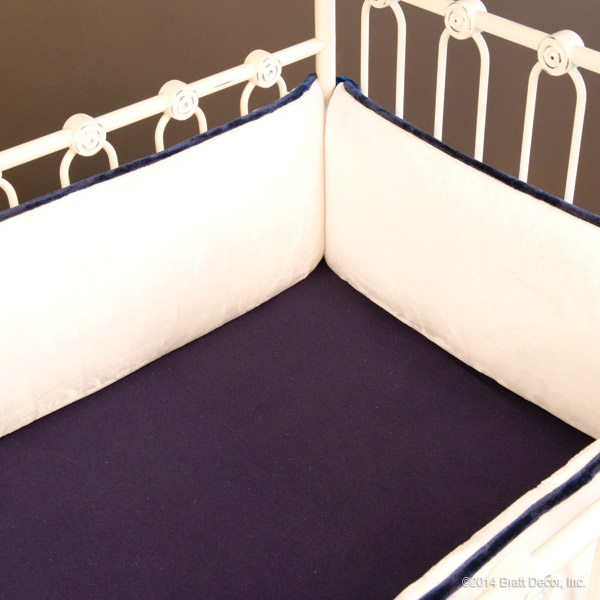 plush nautical crib bumper