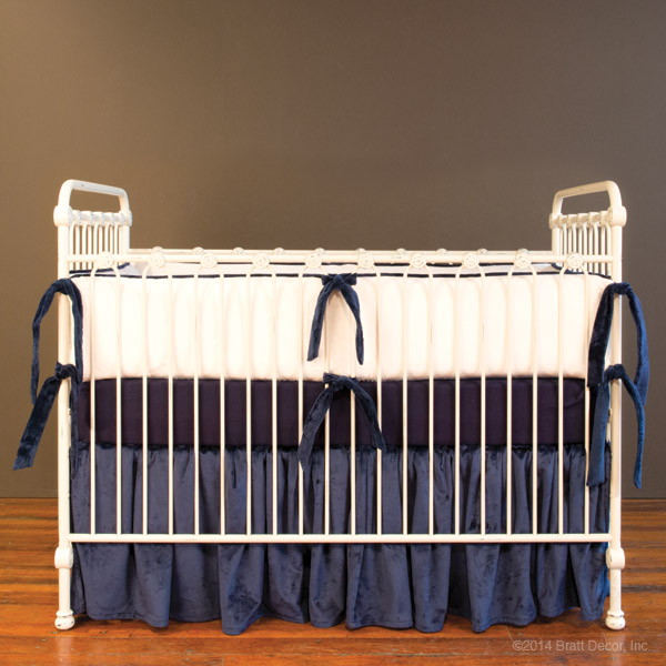 plush nautical crib skirt