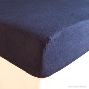 navy flannel crib sheet