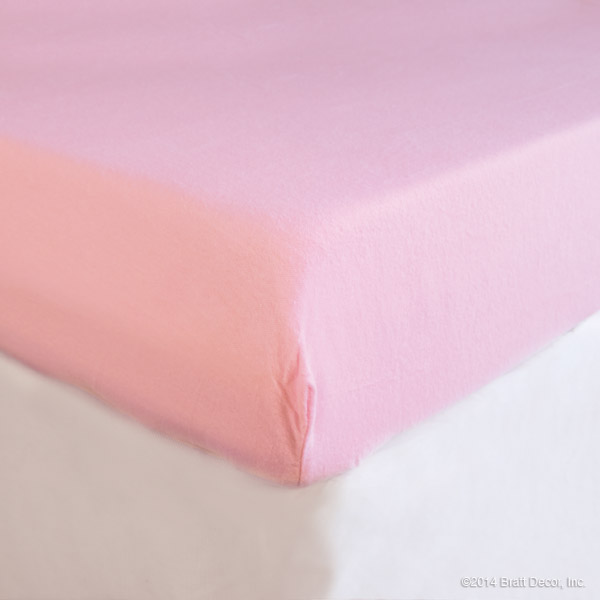 pink flannel crib sheet