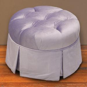 lilac round ottoman