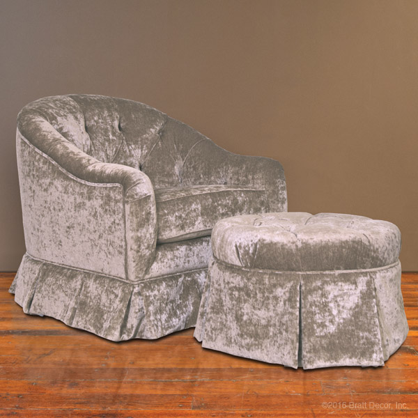 versailles silver glider and ottoman