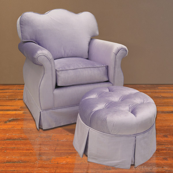 lilac glider and ottoman