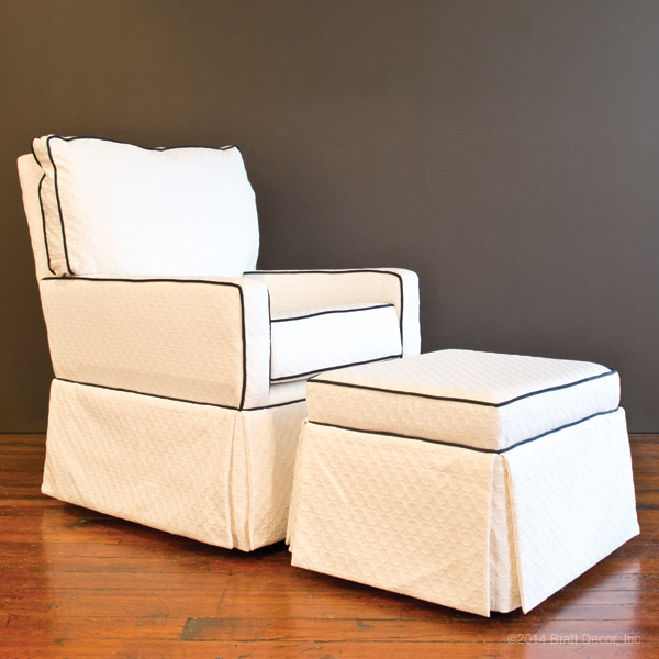 white ottomans foot rest stool