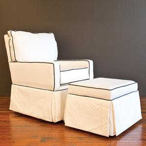 white navy gliders chair chairs