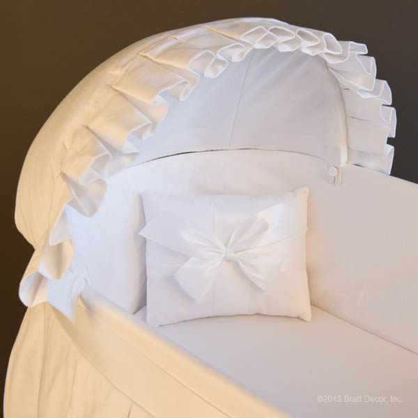 bassinets cradle cradles white cotton