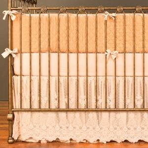 vintage rose 4 piece crib set