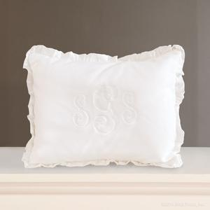 white pique silk cotton monogram