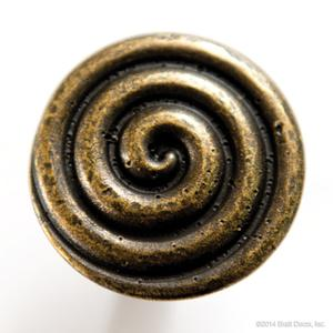 drawer pull swirl gold