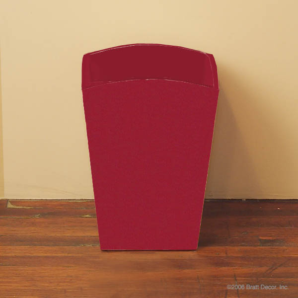 trash can solid red