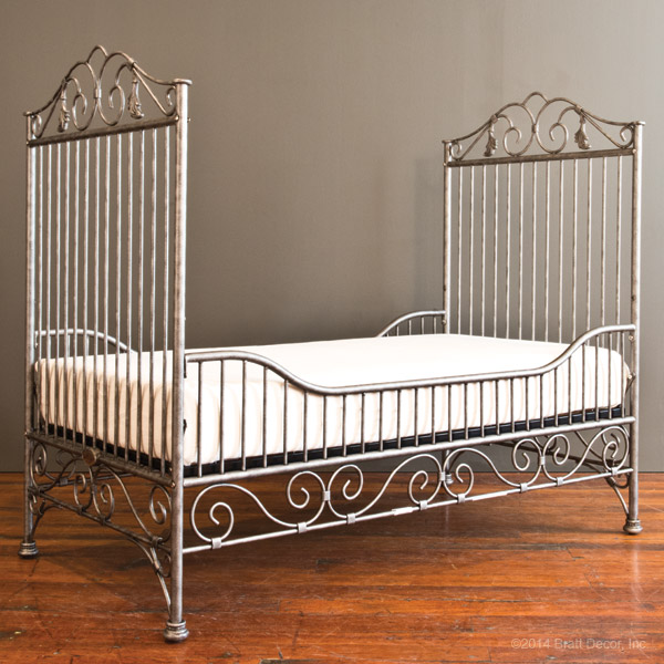 casablanca toddler bed kit pewter