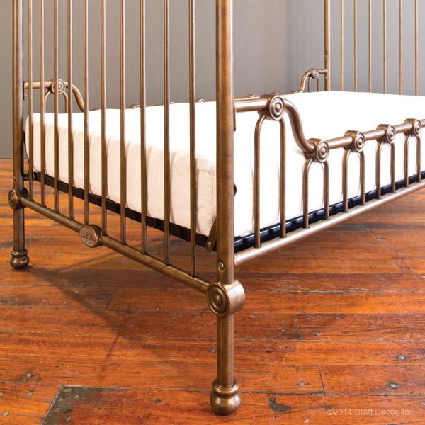 bratt decor venetian crib rod iron baby cribs round canopy c