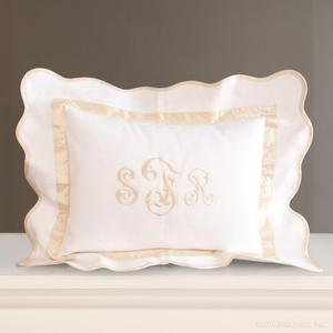 ivory silk scalloped white pique