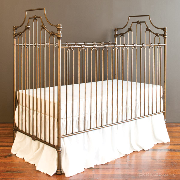 Parisian 3 in 1 crib vintage gold for Baby cribs decoration