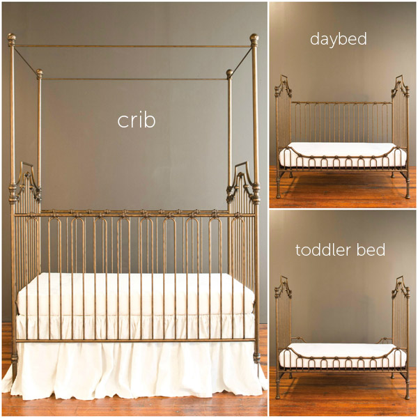 parisian 9 in 1 crib vintage gold