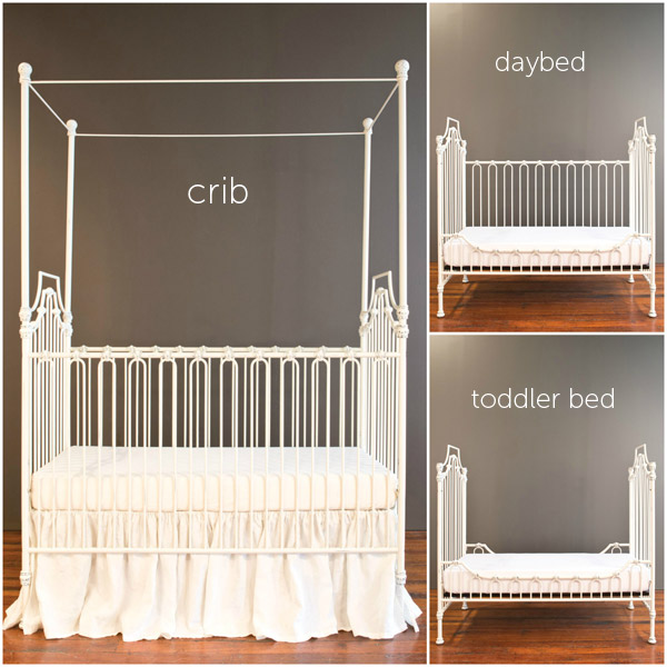 parisian 3 in 1 crib distressed white