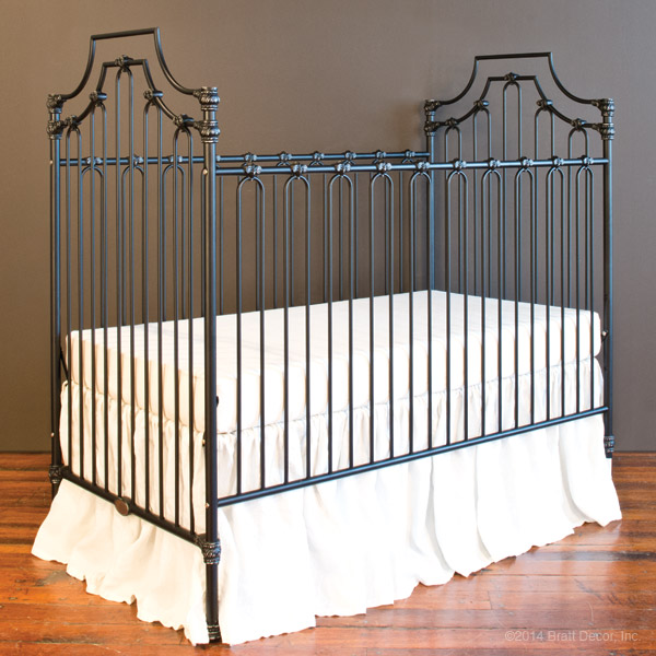 parisian 3 in 1 crib distressed black