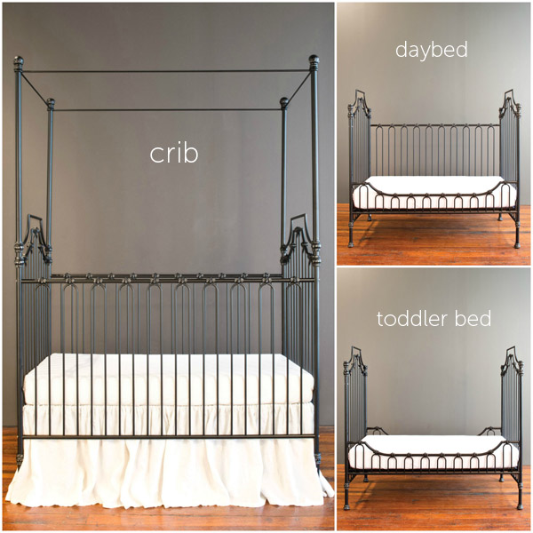 parisian 9 in 1 crib distressed black