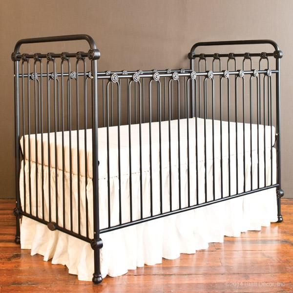 Joy Baby Crib Distressed Black