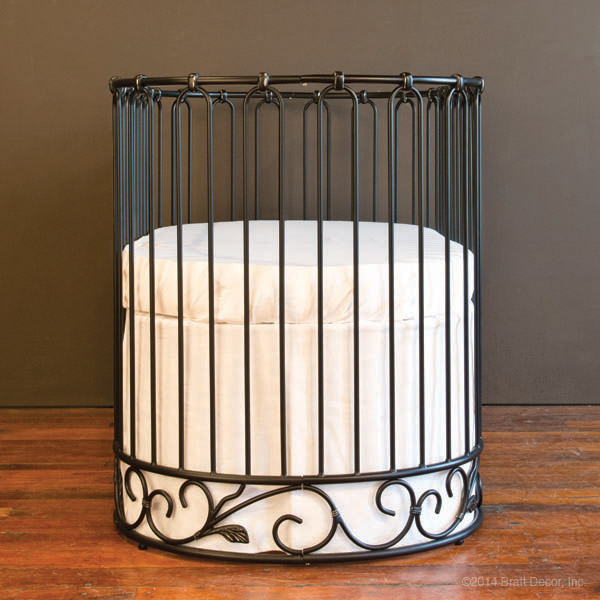 j'adore crib-cradle distressed black