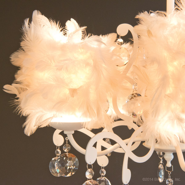 white feathers feather chandeliers light